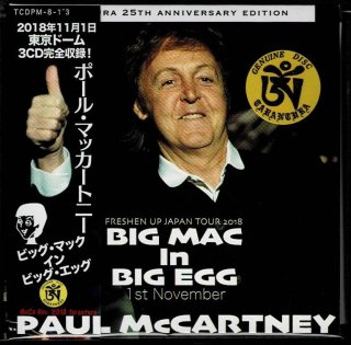 "PAUL McCARTNEY ""BIG MAC In BIG EGG""-3 CD with leaflet. Tarantura"