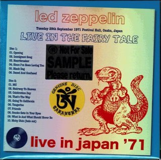 CBM sample Edition! Led Zeppelin/ Live In The Fairly Tale