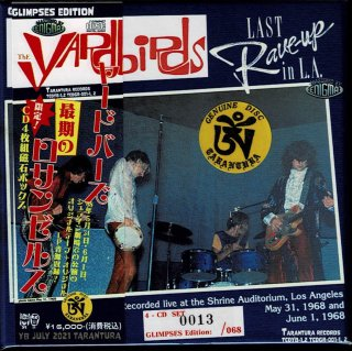 """GlIMPSES EDITION! The Yardbirds """"The Last Rave UP in L. A."""" 4 CD magnet box, Tarantura"""