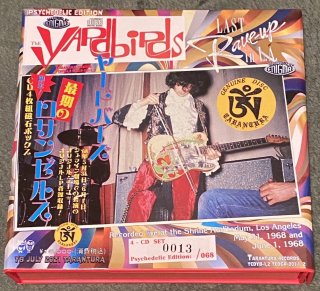 """Psychedelic EDITION! The Yardbirds """"The Last Rave UP in L. A."""" 4 CD magnet box, Tarantura"""