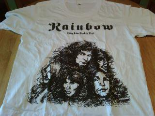 IMPORT/RAINBOW/LONG LIVE ROCK 'n' ROLL T SHIRTS/M SIZE
