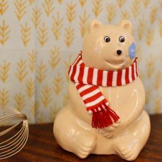 Polar Bear Money Box 2021 赤色マフラー付き