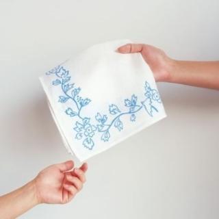 ハンカチ 鳥草木紋---motta