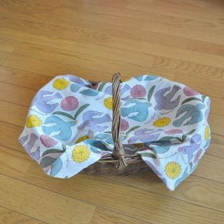 Woodblock Print handkerchief | 木版ハンカチ 鳥と花---鹿児島 睦