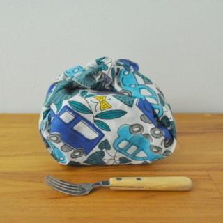 Woodblock Print handkerchief | 木版ハンカチ 自動車---鹿児島 睦