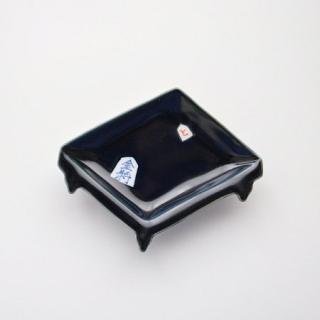 と金駒藍マット 盤型手塩皿---金照堂