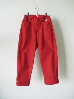 daska   カラーワークパンツ red [ラスト1点]