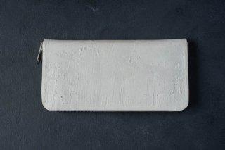 [即売] KAGARI YUSUKE  カガリユウスケ 長財布 ラウンドジップ white [ラスト1点]