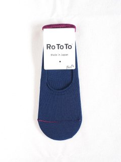 RoToTo  ロトト HIGH GAUGE FOOT COVER  NAVY  レディース