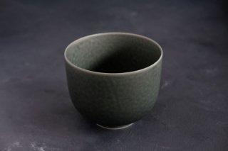 yumiko iihoshi porcelain イイホシユミコ ReIRABO matcha bowl color:winter night gray