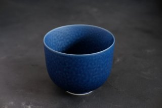 yumiko iihoshi porcelain イイホシユミコ ReIRABO matcha bowl color:offshore blue