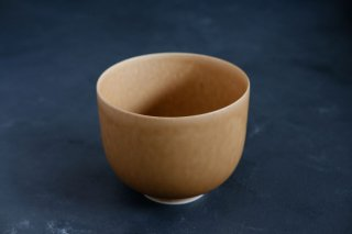 yumiko iihoshi porcelain イイホシユミコ ReIRABO matcha bowl color:warm soil brown