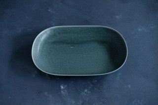 <img class='new_mark_img1' src='https://img.shop-pro.jp/img/new/icons59.gif' style='border:none;display:inline;margin:0px;padding:0px;width:auto;' />yumiko iihoshi porcelain イイホシユミコ ReIRABO Oval plate M color:winter night gray