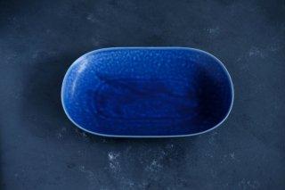 yumiko iihoshi porcelain イイホシユミコ ReIRABO Oval plate M color:offshore blue
