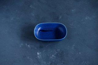 yumiko iihoshi porcelain イイホシユミコ ReIRABO Oval plate S color:offshore blue