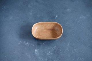 yumiko iihoshi porcelain イイホシユミコ ReIRABO Oval plate S color:warm soil brown