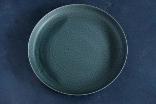 yumiko iihoshi porcelain イイホシユミコ ReIRABO Round plate 27.5cm color:winter night gray