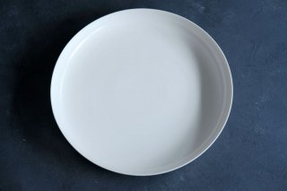 yumiko iihoshi porcelain イイホシユミコ ReIRABO Round plate 27.5cm color:quiet white