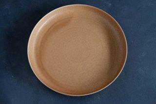 yumiko iihoshi porcelain イイホシユミコ ReIRABO Round plate 27.5cm color:warm soil brown