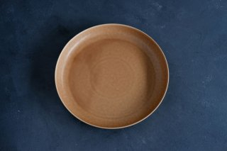 yumiko iihoshi porcelain イイホシユミコ ReIRABO Round plate 21.5cm color:warm soil brown