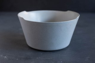 yumiko iihoshi porcelain イイホシユミコ unjour matin bowl L color:smoke blue