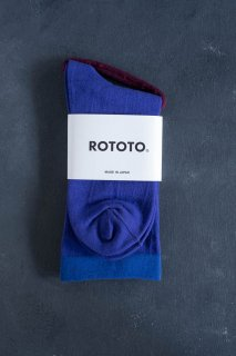 RoToTo ロトト STRETCHLY CREW SOCKS (PURPLE)  レディース