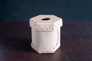 Eatable of Many Orders  エタブル  Toilet Roll Split Leather Box  color:NATURAL  穴あり