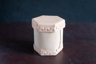 【別注】Eatable of Many Orders  エタブル  Toilet Roll Split Leather Box  color:NATURAL  穴なし