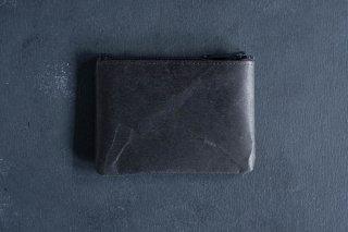 SIWA | 紙和 コインケース wide  color:Black
