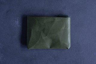 SIWA | 紙和 コインケース wide  color:Dark Green