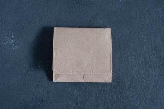 SIWA | 紙和 コインケース スナップ付き  color:Brown