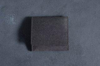 SIWA | 紙和 コインケース スナップ付き  color:Black