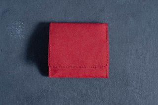 SIWA | 紙和 コインケース スナップ付き  color:Red[生産終了品につき在庫限り]