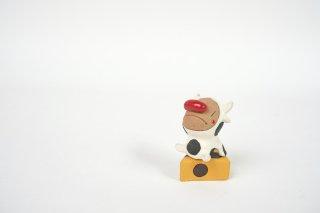 フジワラヤスヒロ ウシ小人 陶人形 C