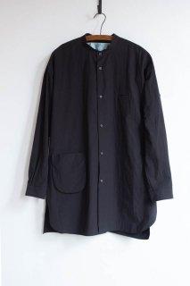 <img class='new_mark_img1' src='https://img.shop-pro.jp/img/new/icons13.gif' style='border:none;display:inline;margin:0px;padding:0px;width:auto;' />Dulcamara  ドゥルカマラ スタンドカラーポケットシャツ Black [ラスト1点]