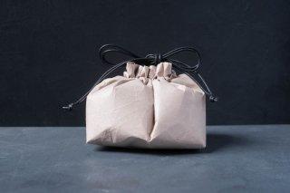 SIWA | 紙和 巾着 マチ付き Short  color:Dark pink