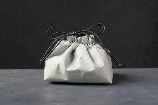 SIWA | 紙和 巾着 マチ付き Short  color:Gray
