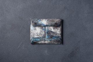 [1点モノ] kagari yusuke   カガリユウスケ 封筒型コインケース 都市型迷彩 [青]