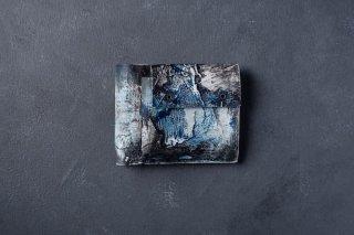 [1点モノ] kagari yusuke   カガリユウスケ 二つ折り財布 都市型迷彩 [青]