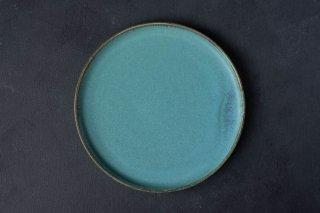 宮本めぐみ トルコ釉 shallow plate 8in  D