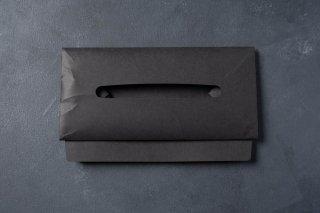 SIWA | 紙和 ティッシュボックスケース Black