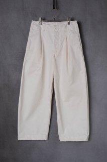 ASEEDONCLOUD  アシードンクラウド Handwerker  ハンドベーカー HW wide trousers  備前壱号 Off white [ラスト1点]