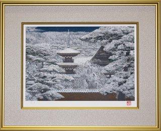 GM-001 リトグラフ『大和の雪』8号 日本画家・後藤純男の作品