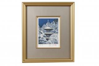 GM-004 リトグラフ『雪』0号 日本画家の巨匠・後藤純男の作品