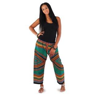 アフリカンハート ロングパンツ (濃緑)男女兼用