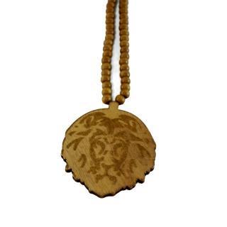 木製 ライオン ネックレス(茶)