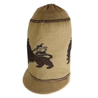 ラスタ ライオン ニット タム ツバ付(ベージュ) ドレッドヘアー 帽子