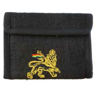 ヘンプラスタライオン財布(黒)