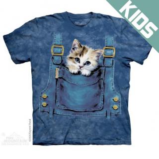 キティオーバーオール キッズTシャツ (ネコ)