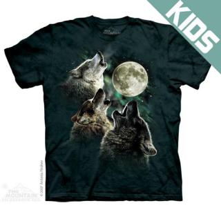 スリーウルフムーンクラシック キッズTシャツ (オオカミ)